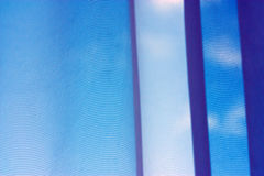 Blue fabric background Stock Photo
