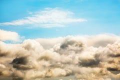 Blue Sky and dark cloud  the onset of rain. Stock Photo