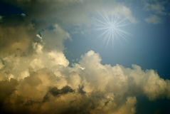 Blue sky with dark clouds Royalty Free Stock Photo
