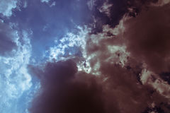 Blue Sky Dark Clouds Royalty Free Stock Photography