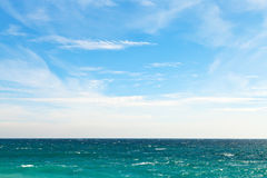 Blue sky and dark water of Black Sea Royalty Free Stock Photos