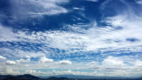 Blue Sky. Different types of clouds all in one Royalty Free Stock Photography
