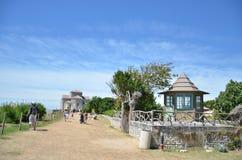 Blue sky, dry land, green vegetation Royalty Free Stock Photography