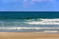 On the Mediterranean sea suitable weather for surfing royalty free stock photos