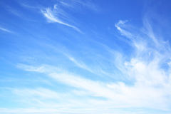 Blue sky with fantastic clouds Stock Photography