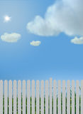 Blue sky and fence Stock Images