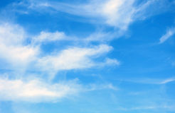 Blue sky with few clouds Royalty Free Stock Photography