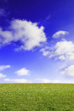 Blue sky and field Stock Photo
