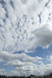 Blue sky fleeced with clouds Royalty Free Stock Images