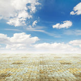 Blue sky and floor Royalty Free Stock Photography