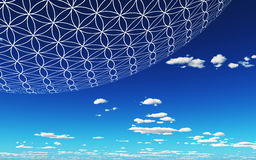 Blue sky and Flower of Life Royalty Free Stock Images