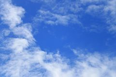 Blue sky with fluffy cloud bright beautiful art of nature and co. Py space for add text Royalty Free Stock Photo