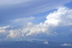 Blue sky. With fluffy clouds Royalty Free Stock Photography