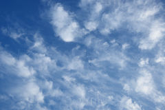 Blue sky and fluffy clouds Royalty Free Stock Images