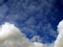 Blue Sky and fluffy clouds Stock Images