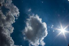 Blue Sky fluffy Clouds Royalty Free Stock Photo