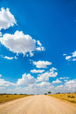 The blue sky flying white light clouds stock photo