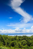 Blue sky with  forest Royalty Free Stock Image