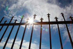 Blue sky. Forged gate against the blue sky Stock Photo