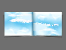 Blue sky in the form of a booklet Royalty Free Stock Photo