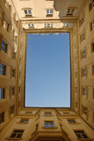Blue sky framed by building Royalty Free Stock Image