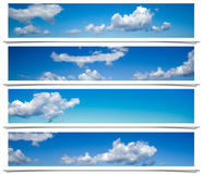 Blue sky frames. stock photography