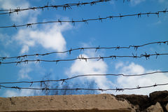 Blue sky of freedom. Over the prison royalty free stock photography