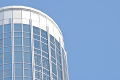 Blue sky and glass building Stock Photography