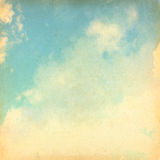 Blue sky and glow clouds Stock Images