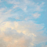 Blue sky and glow clouds Royalty Free Stock Images