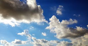 Blue sky. Gold cloud in blue sky Royalty Free Stock Images