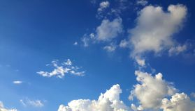Blue sky. Gold cloud in blue sky Stock Photography