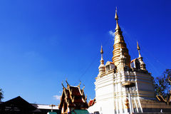 Blue sky and golden pagoda Stock Photography