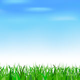 Blue sky and grass. Blue sky with clouds and grass Stock Images
