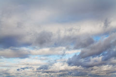 Blue sky with gray clouds Stock Photography