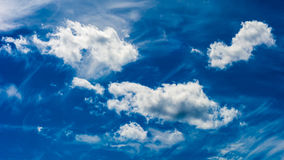 Blue Sky on Gray Day Royalty Free Stock Photo