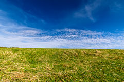 Blue sky. And green grass fields at seven sisters national park Stock Image