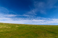Blue sky. And green grass fields at seven sisters national park Royalty Free Stock Photo