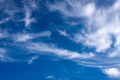 Blue sky with high clouds. Stock Image