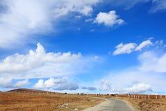 The blue sky on the highland Stock Photos