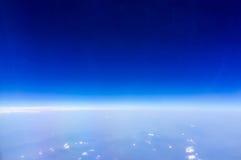 Blue sky with horizon. stock image