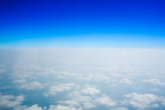 Blue sky and horizon Stock Images
