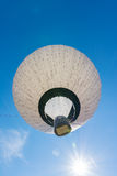 Blue Sky Hot Air Balloon Music Note Pattern Flying Sunny Royalty Free Stock Photo