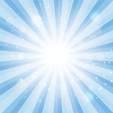 Blue Sky Hypnotic Background.Vector lllustration Stock Images