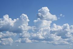 Blue Sky interesting images._2. In the summer June blue sky interesting images Royalty Free Stock Images