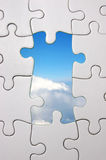 Blue sky jigsaw Stock Images