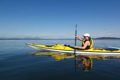 Blue Sky Kayaking royalty free stock photography