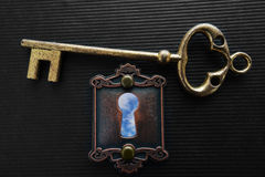 Blue sky keyhole Royalty Free Stock Photo