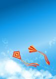 Blue Sky Kite Flyer Poster Cover Stock Images