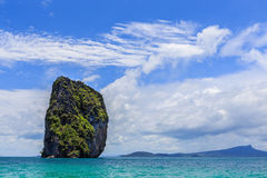 Blue sky koh poda or island poda Royalty Free Stock Photos